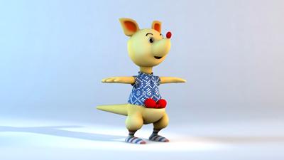 卡布国际纸尿裤吉祥物模型展示